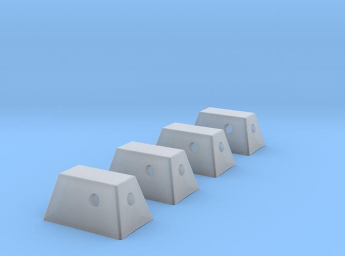 Apollo RCS Housings 1:48- Set of 4 3d printed
