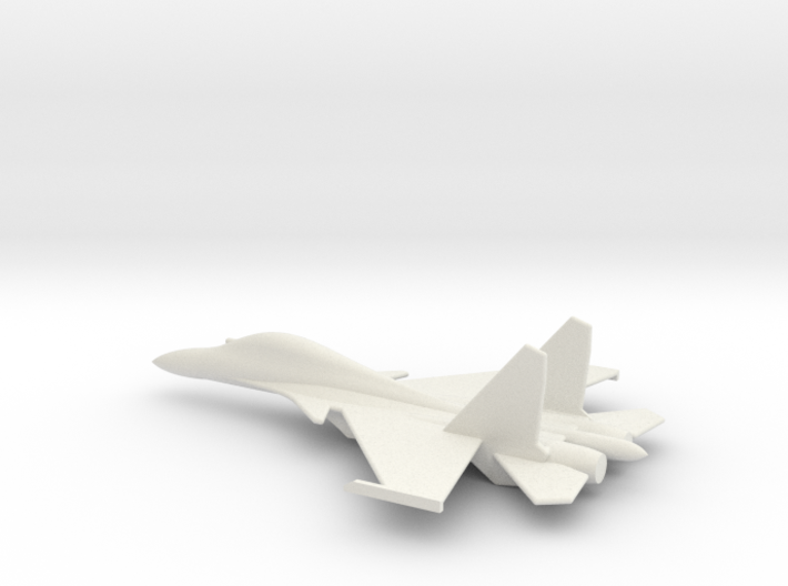 Su-30 Flanker C Russian Jet 1/285 scale 3d printed