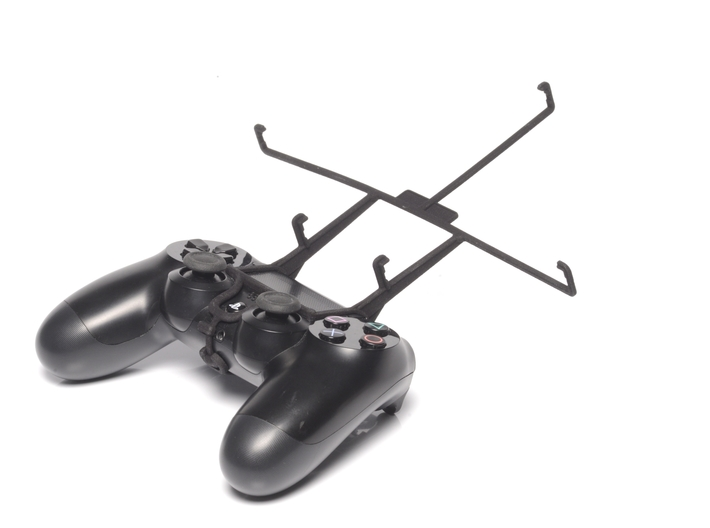 PS4 controller & Lenovo IdeaTab S6000L 3d printed Without phone - A Nexus 7 and a black PS4 controller