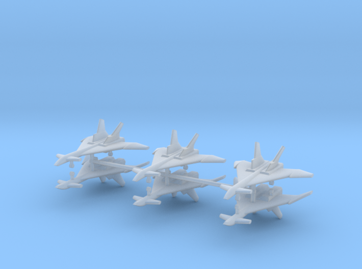 1/700 Mikoyan MiG-31 (Firefox) (x6) 3d printed 1/700 Mikoyan MiG-31 (Firefox) (x6)