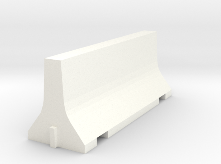 N Scale 8 Foot Jersey Barrier 3d printed