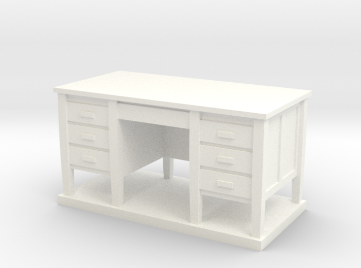 Miniature 1:48 Desk 3d printed