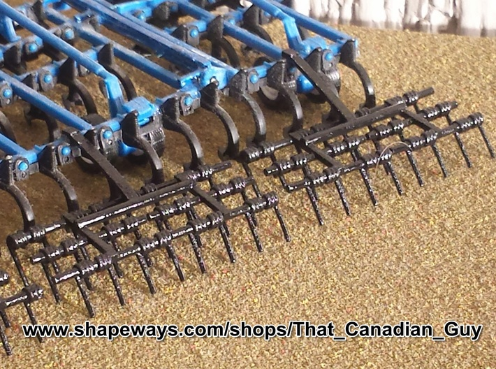 1/64 Harrows 5 Bar Set of 4 3d printed My 3 bar harrow shown mounted on an Ertl Cultivator