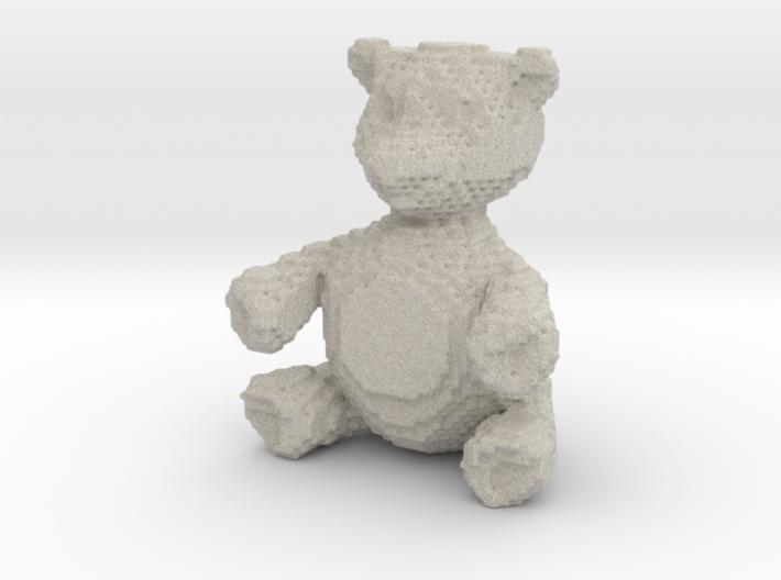 """Chocolate-Bar Brown"" Voxel Bear 3d printed"