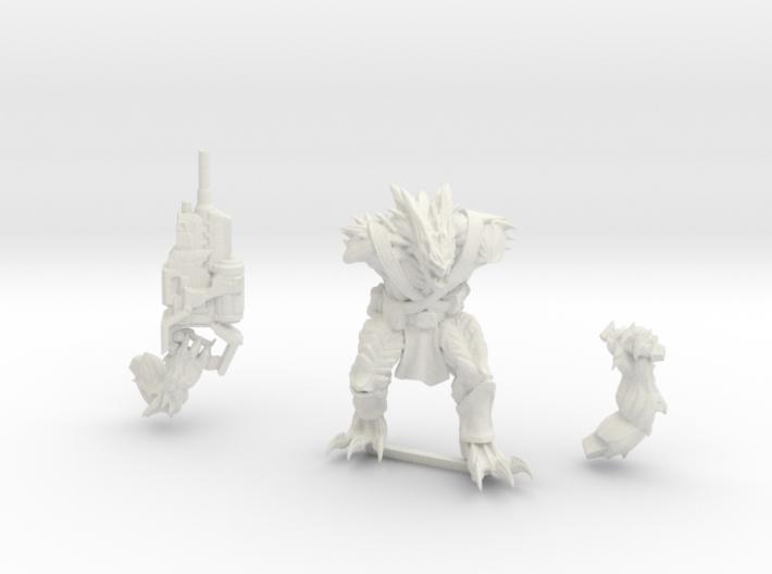 Kurgan with Autocannon 3d printed Shapeways render