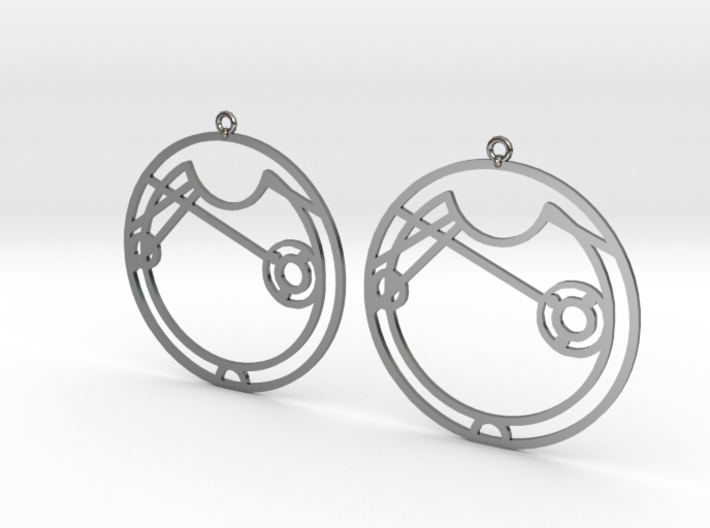 Alice / Alise - Earrings - Series 1 3d printed
