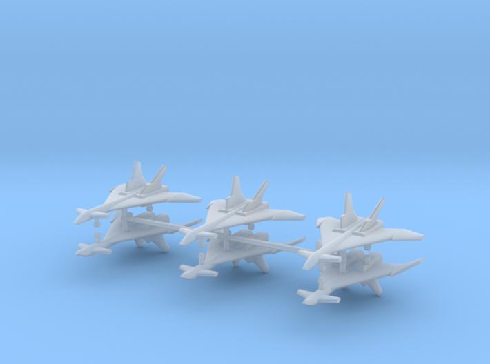 1/500 Mikoyan MiG-31 (Firefox) (x6) 3d printed 1/500 Mikoyan MiG-31 (Firefox) (x6)