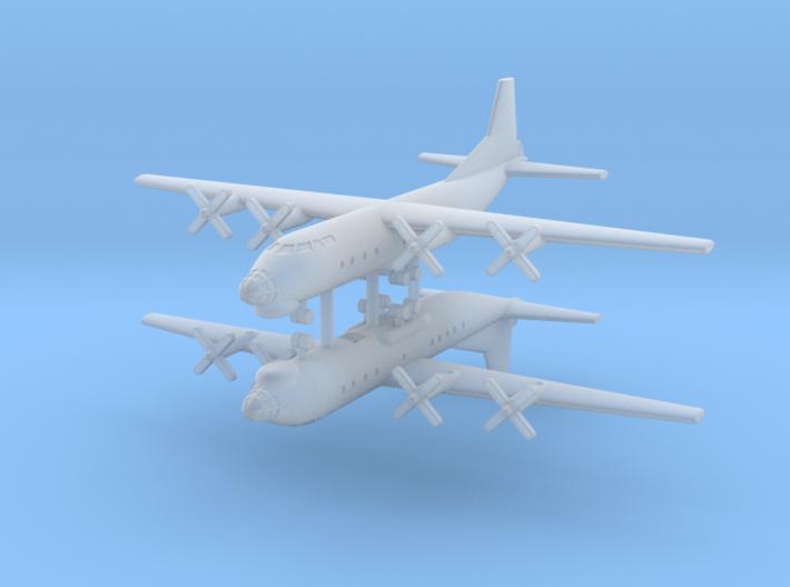 1/600 AN-12 (Cub) Transport Aircraft (x2) 3d printed