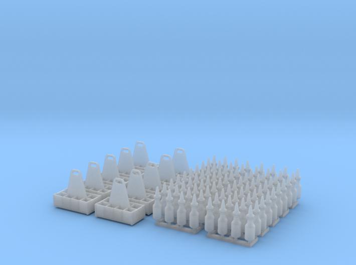 1:35 Quart Oil Bottles and Crates - 10ea 3d printed