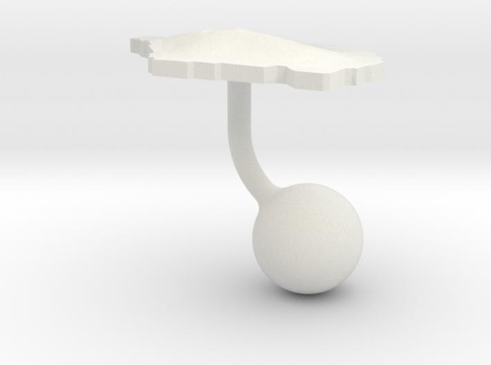 Samoa Terrain Cufflink - Ball 3d printed