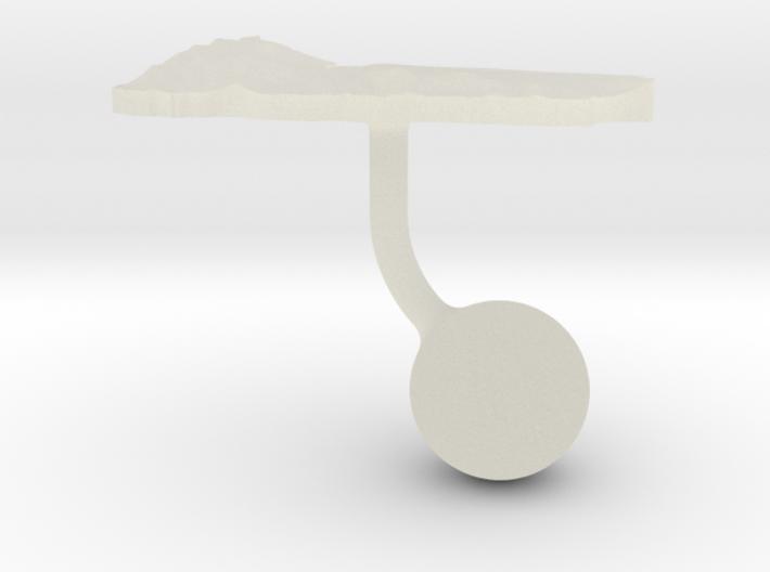 Yemen Terrain Cufflink - Ball 3d printed