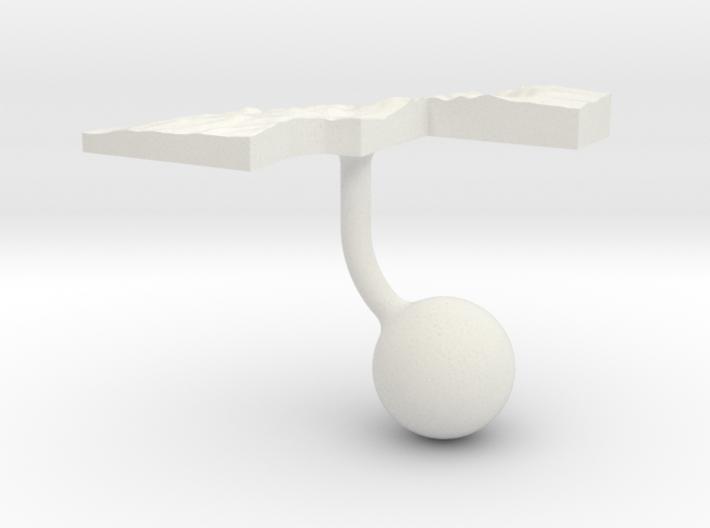 Western Sahara Terrain Cufflink - Ball 3d printed