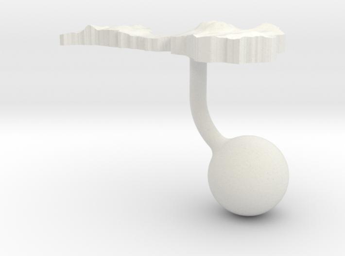 Latvia Terrain Cufflink - Ball 3d printed