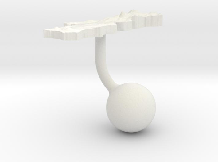 Portugal Terrain Cufflink - Ball 3d printed