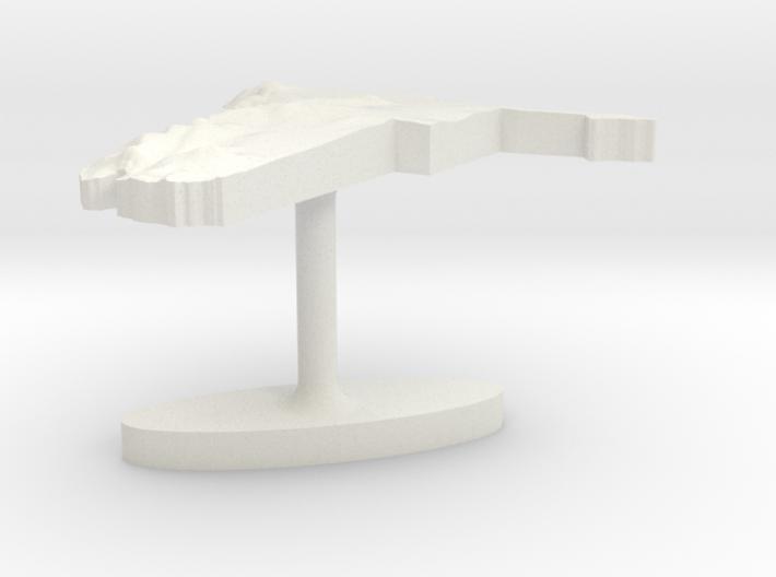 Namibia Terrain Cufflink - Flat 3d printed