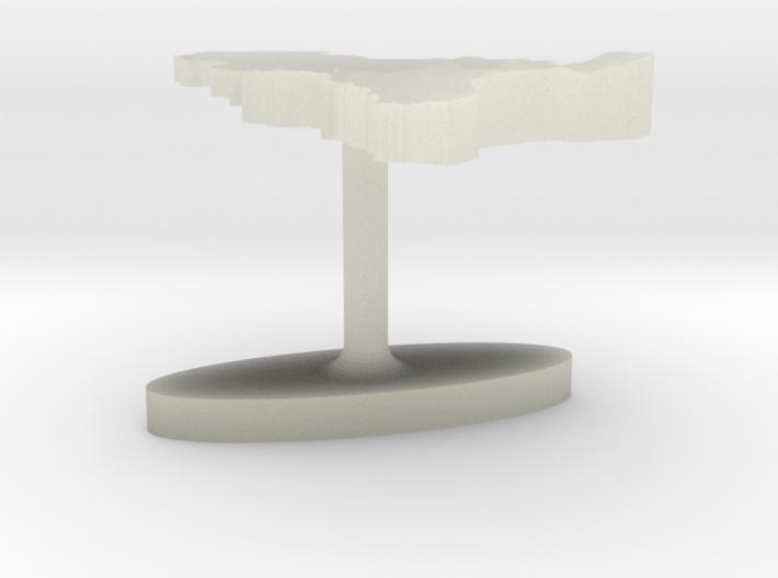 Belgium Terrain Cufflink - Flat 3d printed