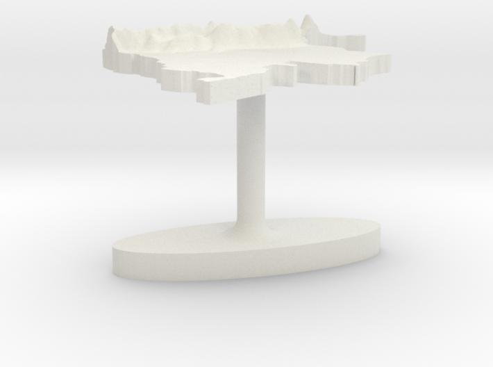 Colombia Terrain Cufflink - Flat 3d printed