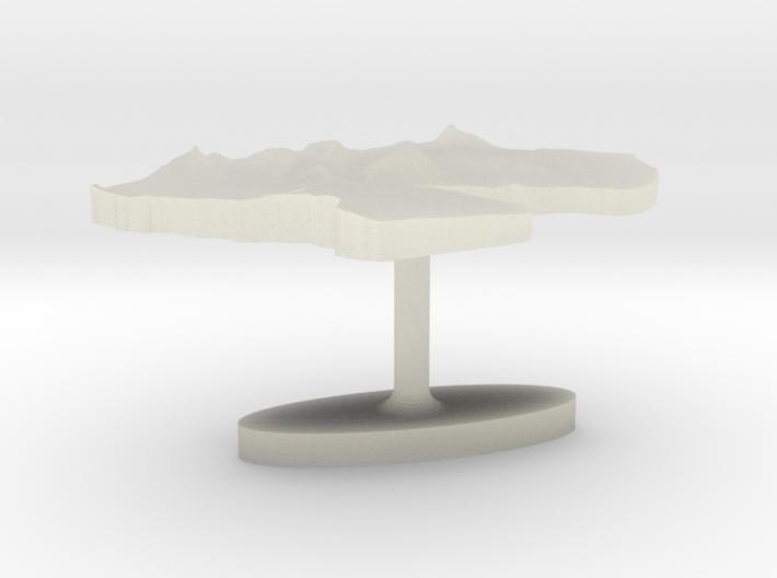 Djibouti Terrain Cufflink - Flat 3d printed