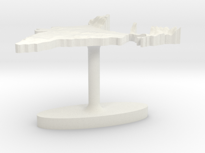 India Terrain Cufflink - Flat 3d printed