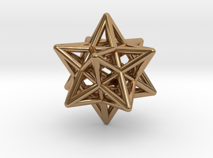Stellated Dodecahedron Pendant 3d printed
