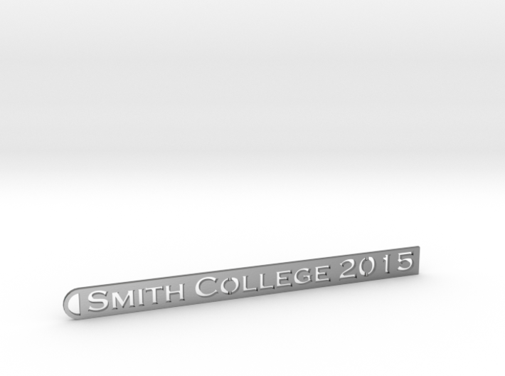 Smith Pendant - small strip for precious metals 3d printed 2015 Smith College