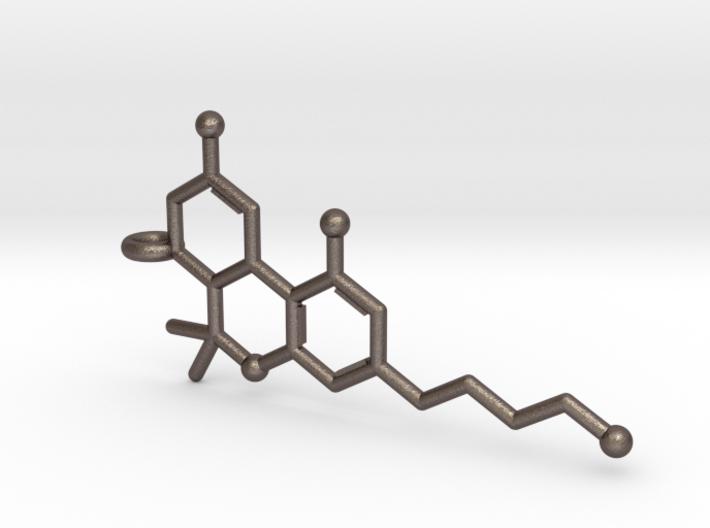 THC Tetrahydrocannabinol Keychain 3d printed