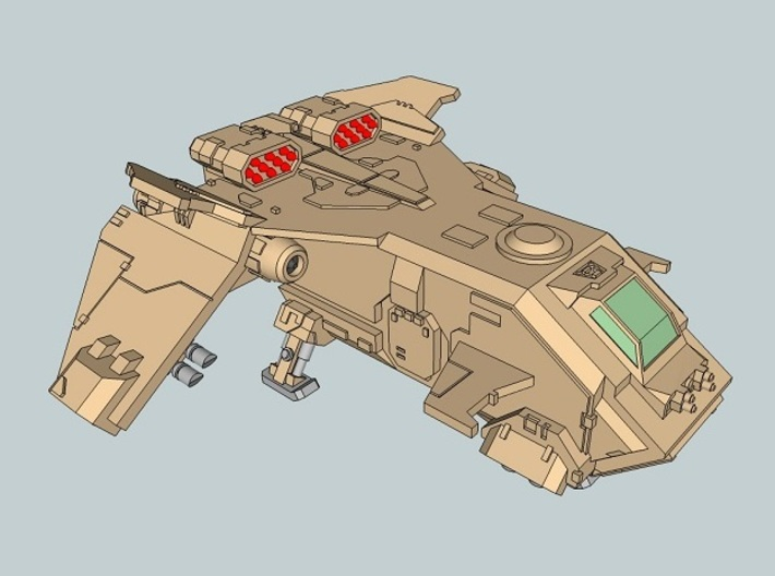6mm Stormturkey Dropship 3d printed