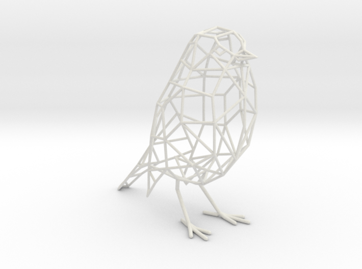 Bird wireframe (with eyes) - smaller version 3d printed