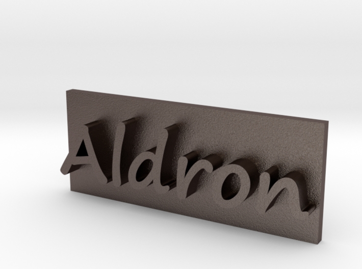 Aldron Brand Plate 3d printed