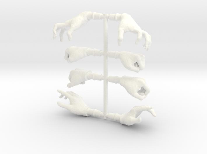 HandsFemaleBundle 3d printed