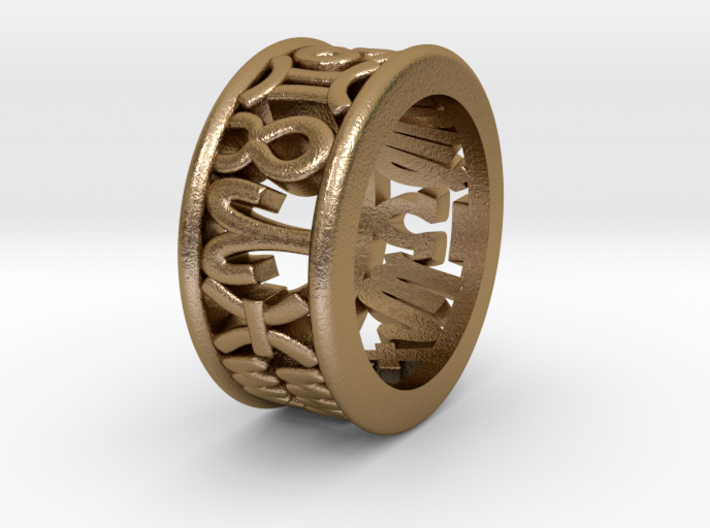 Constellation symbol ring 3.5 3d printed