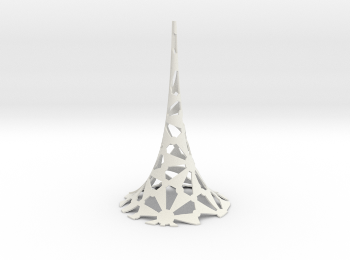 Pseudosphere with (7,3,2) tiling 3d printed
