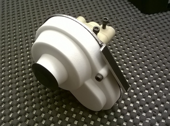 NIX66081 Gear cover for RC10 mid motor conversions 3d printed