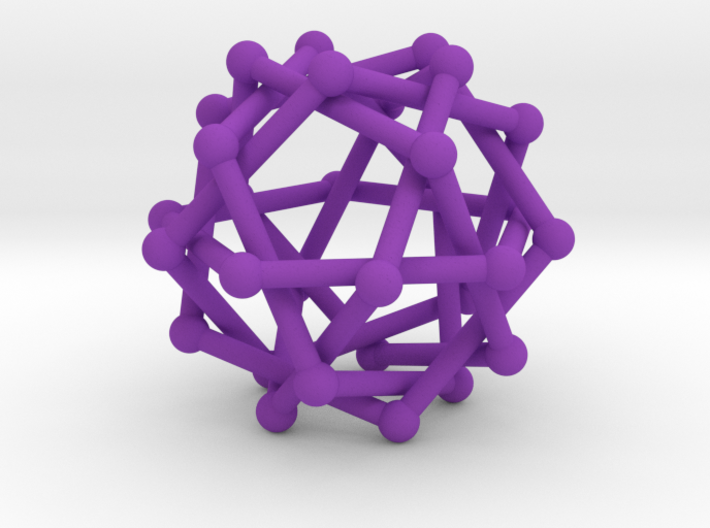 Six Tangled Pentagons Large 3d printed
