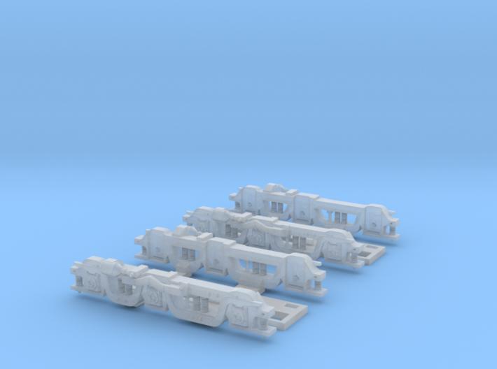 Baldwin RT-624 Side Frames X2 N Scale 1:160 3d printed