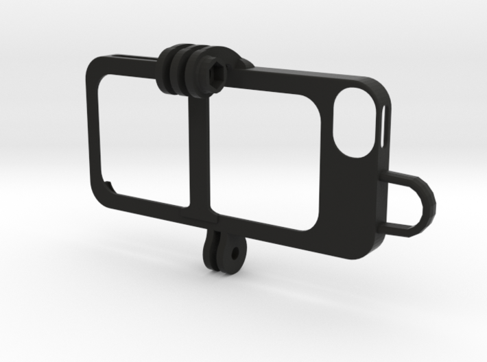 iPhone 5s Case - full goPro adapter 3d printed
