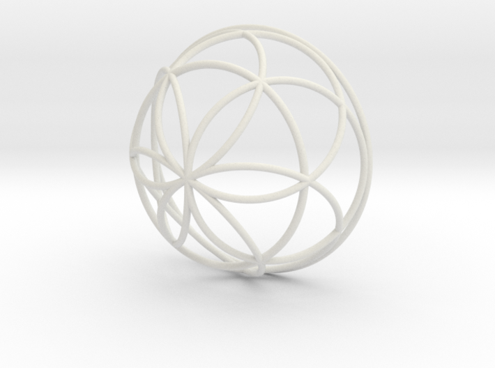 3D 300mm Half Orb of Life (3D Seed of Life) 3d printed