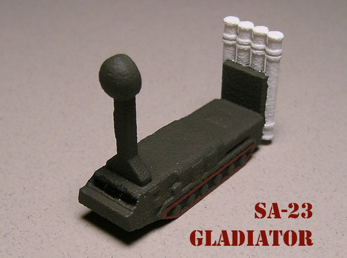 1/700 SA-23 Gladiator S-300VM Air Defence Battery 3d printed 1/285 Version. Paintwork by Fred Oliver.