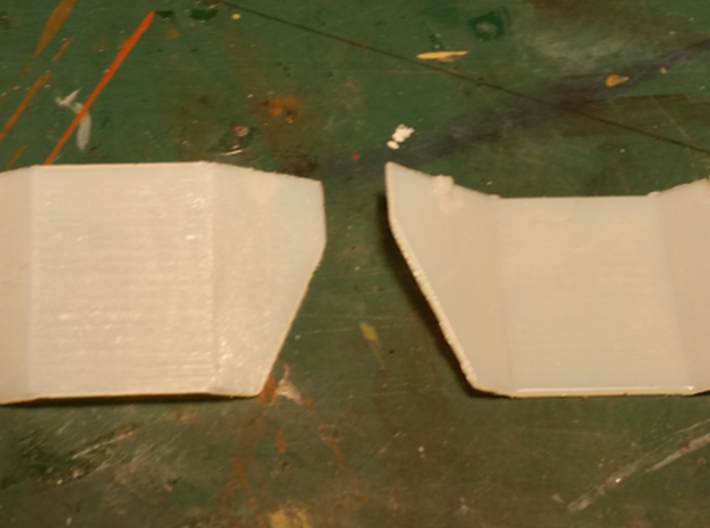 HO Scale Tank Car Shield for 1 Car 3d printed Sample pieces