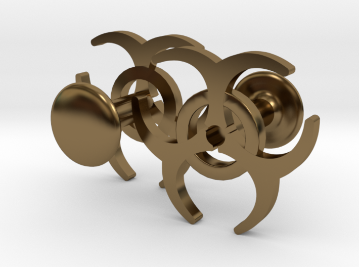 BIOHAZARD Cufflinks 3d printed