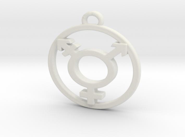 TransGender Pendant -Small 3d printed