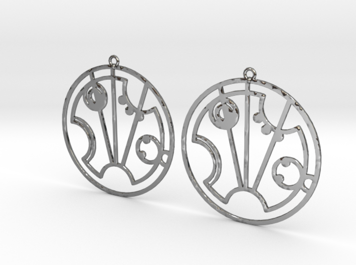 Scarlett - Earrings - Series 1 3d printed