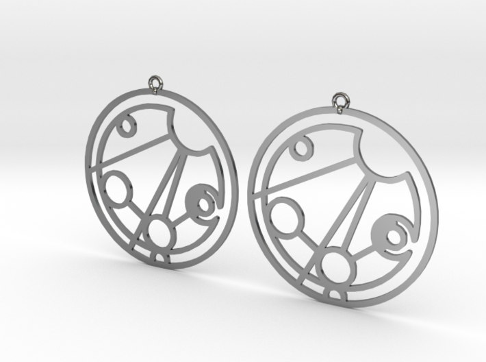Madison - Earrings - Series 1 3d printed