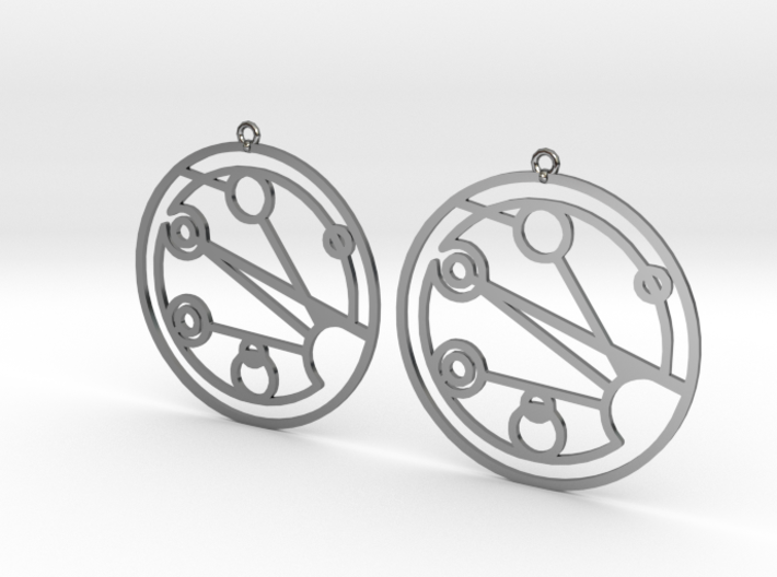 Josephine - Earrings - Series 1 3d printed