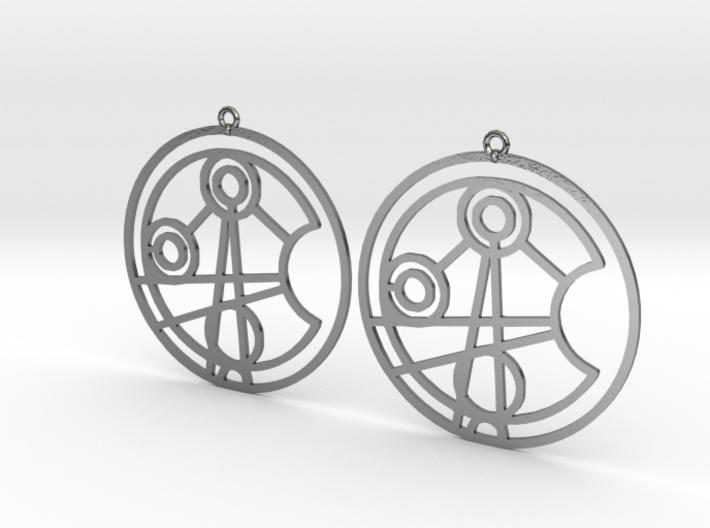 Jasmine - Earrings - Series 1 3d printed