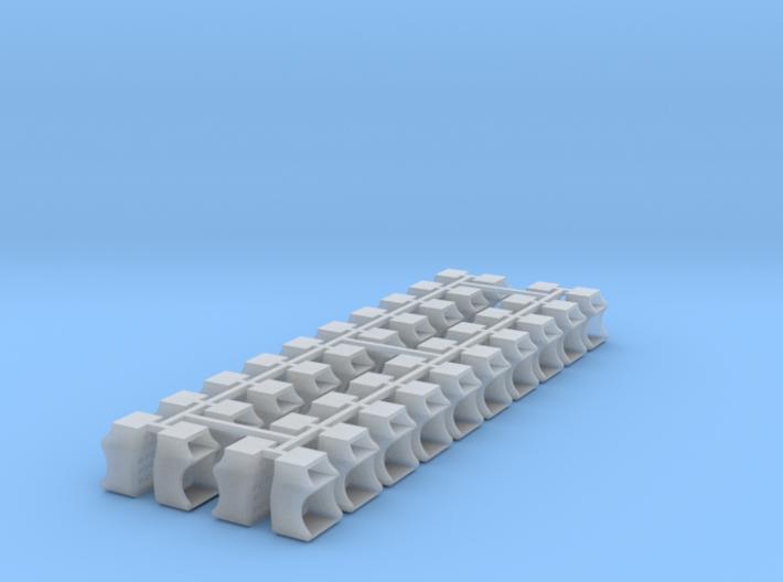 40x Caboose Steps - HO 3d printed