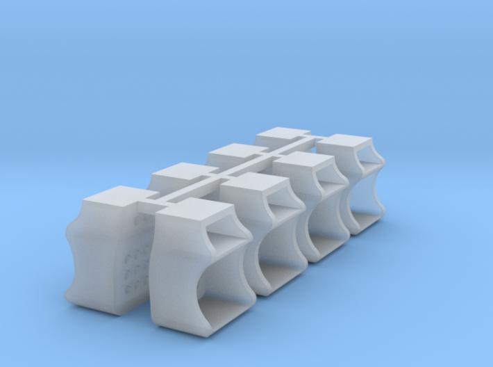 8x Caboose Steps - HO 3d printed