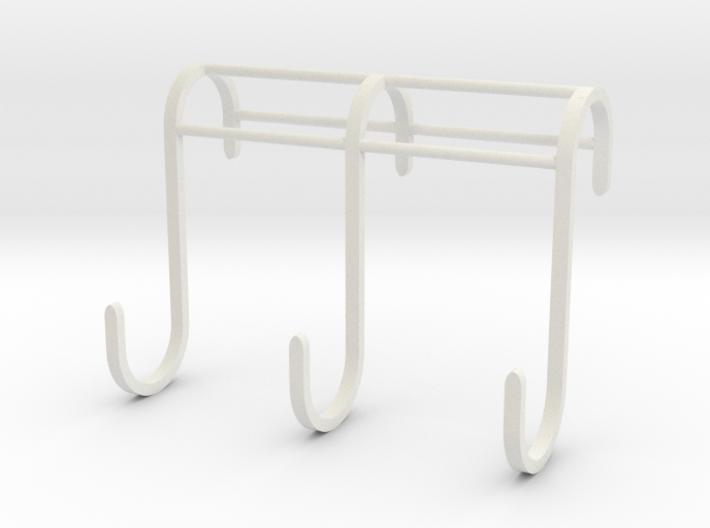 3 Hook Set for IKEA GRUNDTAL (17mm / 2.5mm) 3d printed