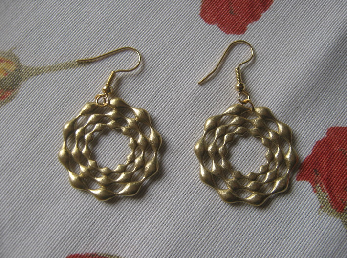 Three-Circle Earrings 3d printed