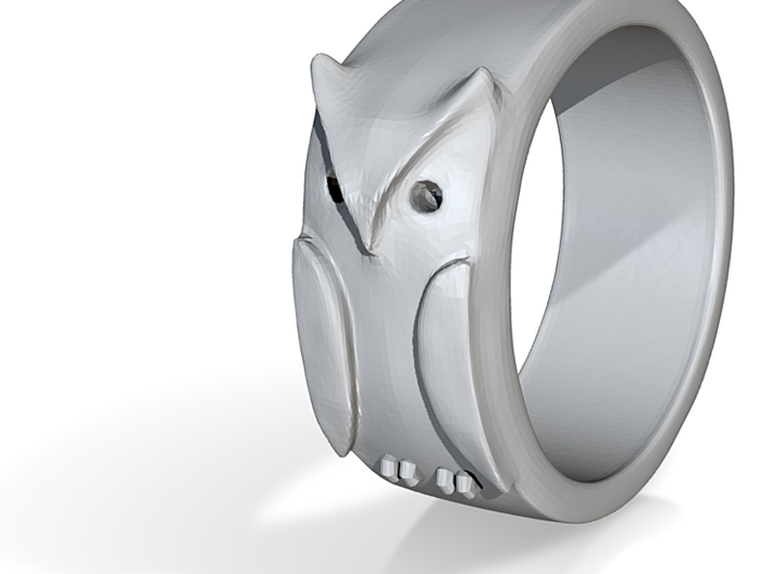 Owl ring: size 6 (US) L.5 (UK) 3d printed